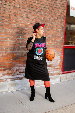 Plus Detroit Champion T-Shirt Dress