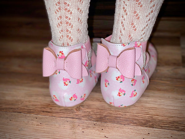 Bow Back Ballet Shoes
