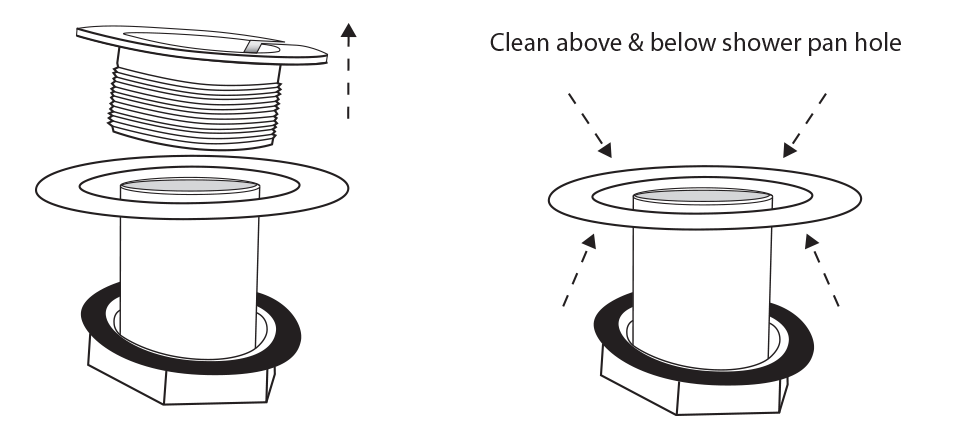 Clean above and below
