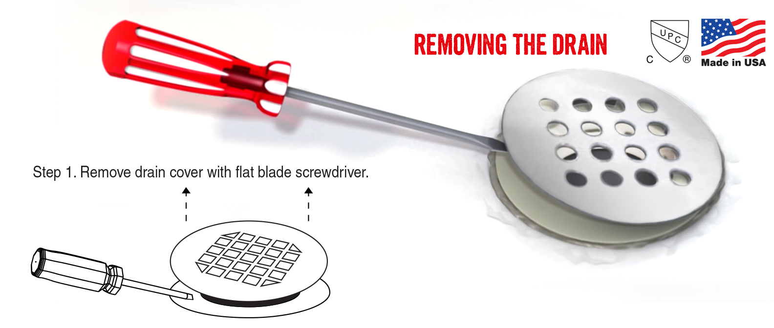 Removal of your existing drain