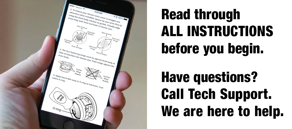 Read instructions. We are here to help you.