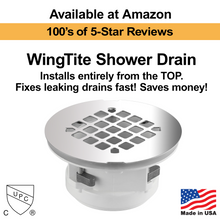 WingTite Shower Drain - Installs entirely from the TOP