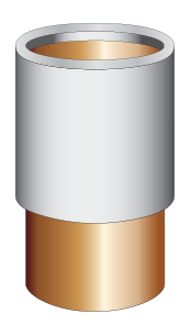 Copper Drain Pipe Adapters (Certain shower drain pipe installations require a pipe adapter.)