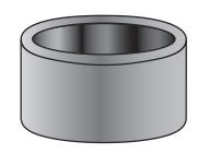 "2"" Inside Pipe Coupling (Some drain installations require an inside pipe coupling.)"