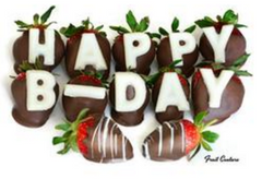 Happy Birthday Chocolate-Covered Strawberries