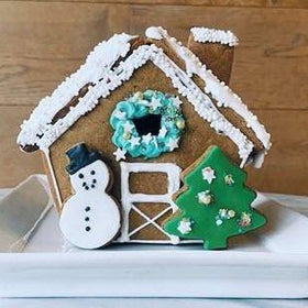 farm gingerbread house