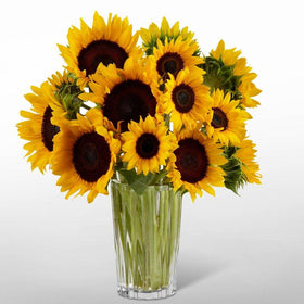 Golden Sunflower Bouquet by Vera Wang