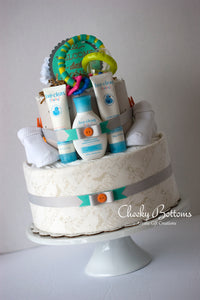 Diaper Cake for Baby - Two Tiers