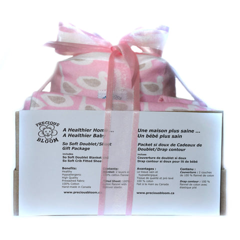 So Soft Organic Baby Accessory Gift Package: Ducks Pink