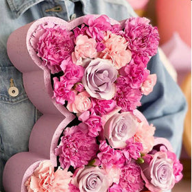 Pink Flower Bear - Mixed Blooms