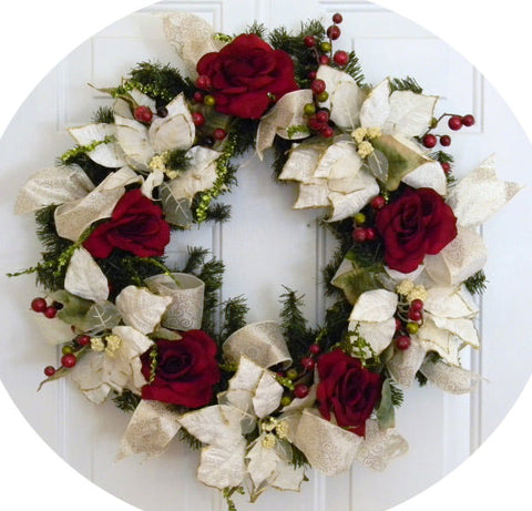 Flowers and Accents Wreath