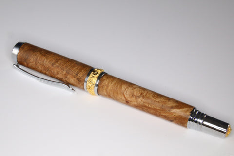 Maple Leaf Maple Burl Rollerball Pen