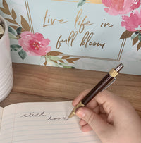 Premium Click pen in blackwood and polished brass