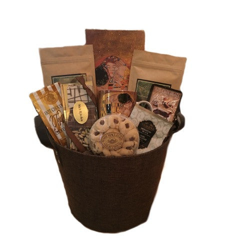 Chocolate & Coffee Kiss Basket