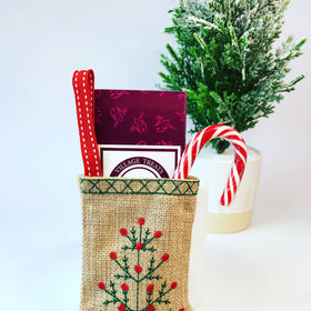 Rustic mini Stocking with Local Chocolate