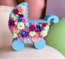 Baby Carriage Flower Box