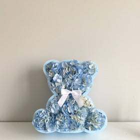 Blue Flower Bear - Blue Hydrangea