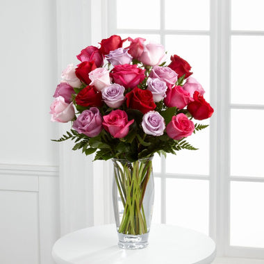 Captivating Color Rose Bouquet by Vera Wang