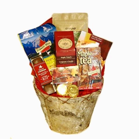 Canadian Maple Birch Bark Basket