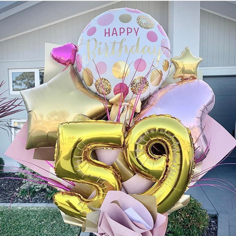 Artisan Mylar Balloon Composition - Birthday 4