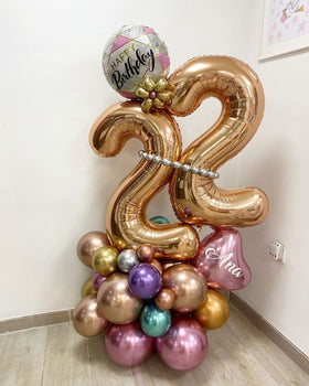 Artisan Mylar Balloon Composition - Birthday 6