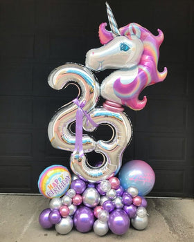 Artisan Mylar Balloon Composition - Birthday 9