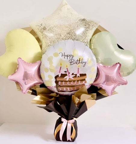 Artisan Mylar Balloon Composition - Birthday 10