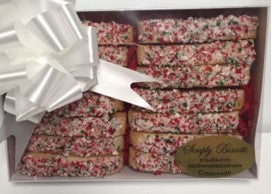 14 pc candy cane biscotti box