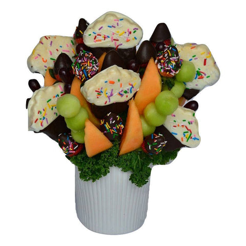 Fruit Basket - Sprinkled Cupcake Bouquet