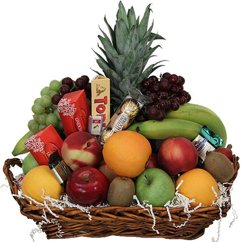 Fresh Fruit & Chocolates Gift Basket