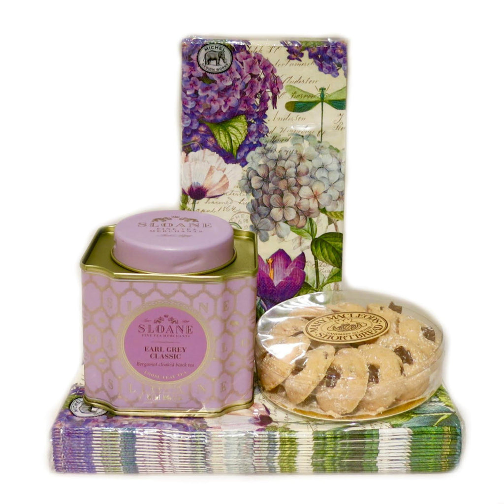 Gift Basket - Sloane Tea & Cookies Gift Set