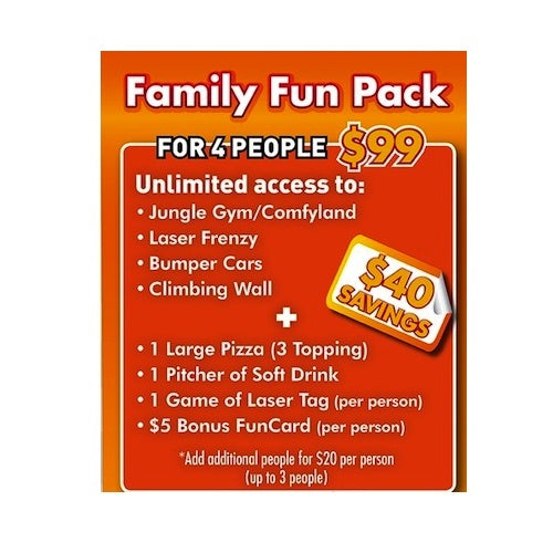 Gift Certificates - Funhaven Family Fun Pack