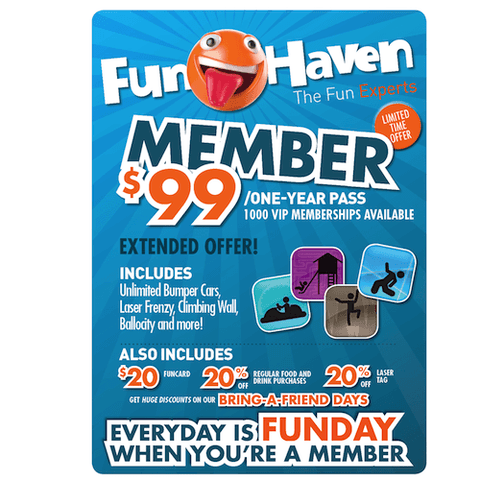 Funhaven One Year Membership