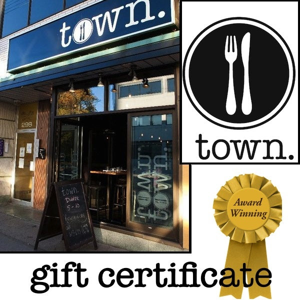 Gift Certificates - Town. Gift Certificate