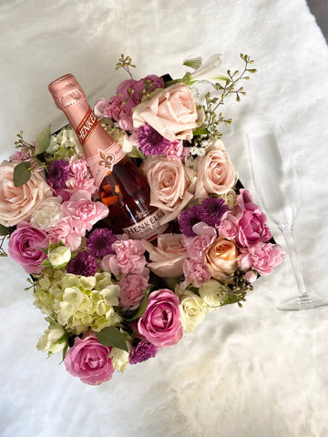 Blooms & Bubbly (Square Box)