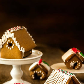 mini-gingerbread houses