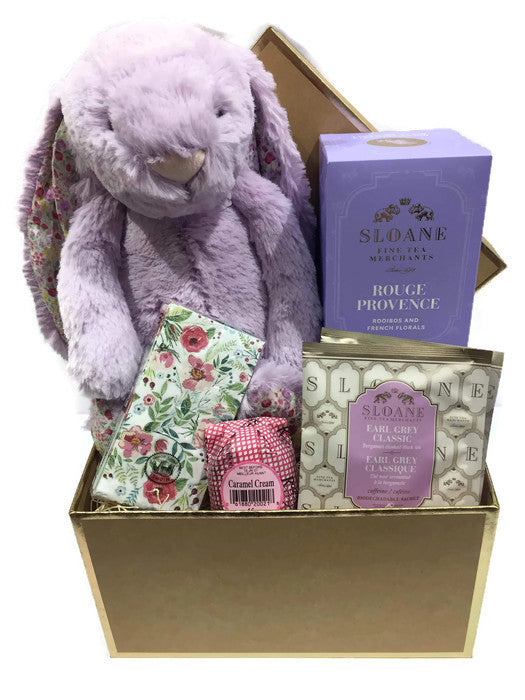 Lavender and Lilac Bunny Basket