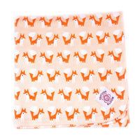 Swaddle Me Organic Cotton Flannel Receiving Blanket: Foxes Coral; 36