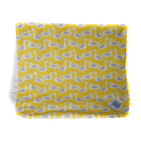 So Soft Organic Cotton Diaper Change Pad in Ducks Yellow; waterproof backing; soft, warm surface for baby's but during diaper changes at home and away