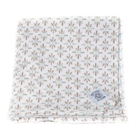 Swaddle Me Organic Cotton Receiving Blanket in Burst Brown; 36