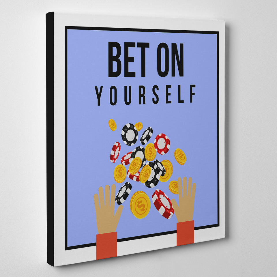 Bet on Yourself Chips - Monopoly Leinwand