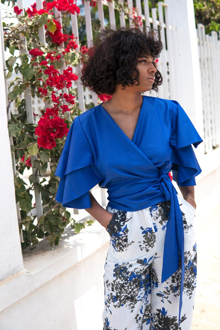 Sahel top - Cobalt Blue