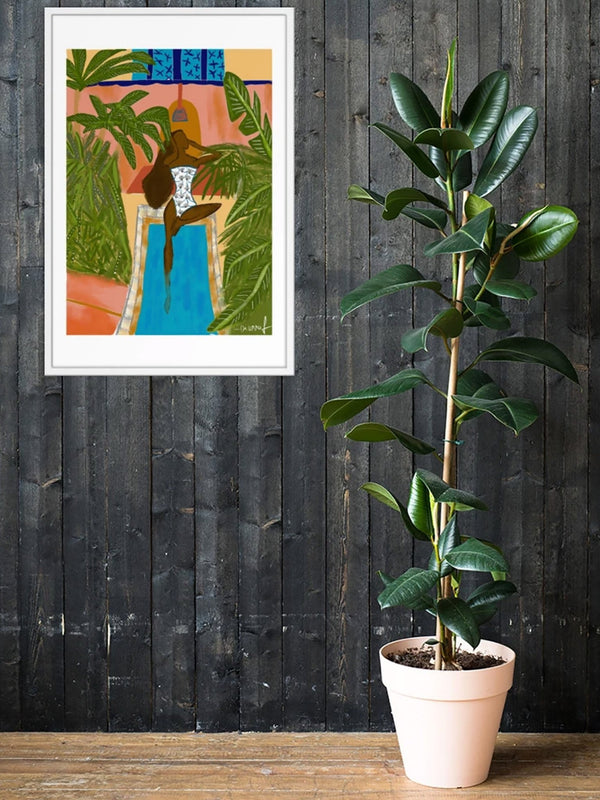 Bayeku in Marrakech | Framed Art Print - diarrablu