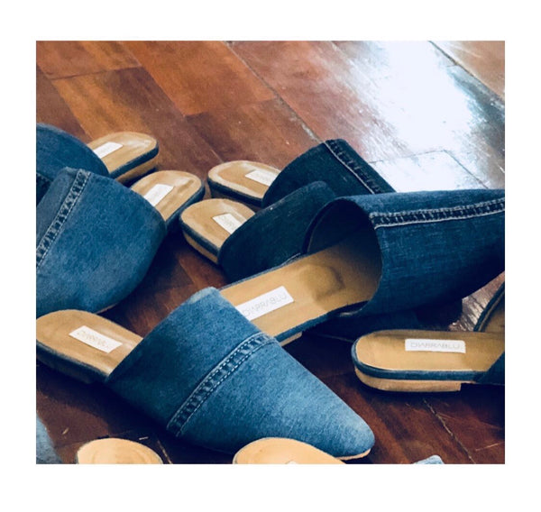 Denim Mules