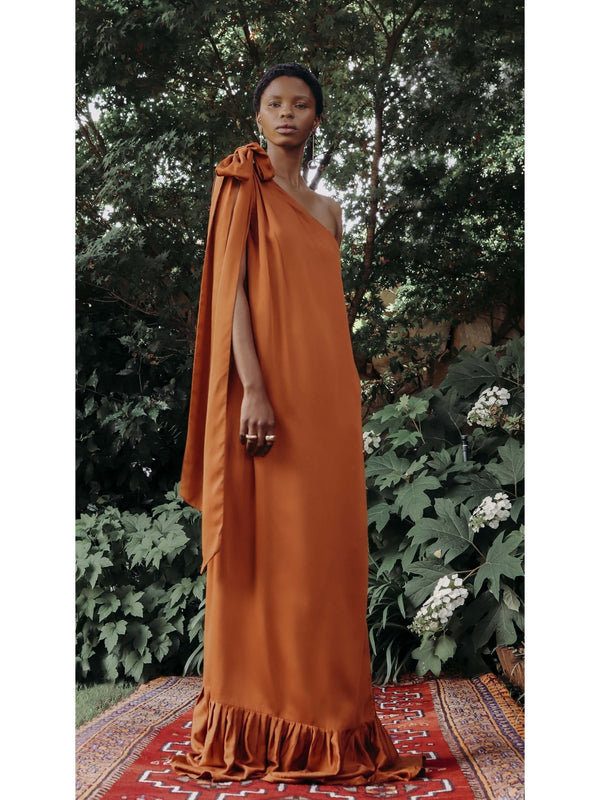 Sustainable Diago Dress - RUST - diarrablu