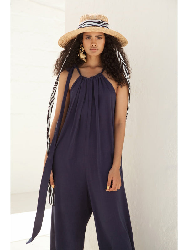 Sustainable Lea Jumpsuit - Navy - diarrablu