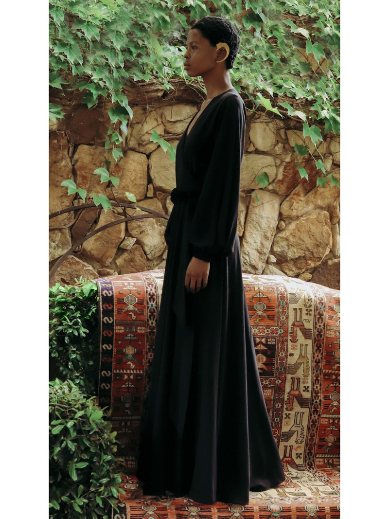 Sustainable Marieme Dress - Noir - diarrablu