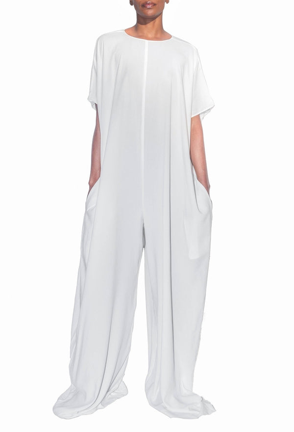 Sustainable Pino Jumpsuit - Blanc - diarrablu