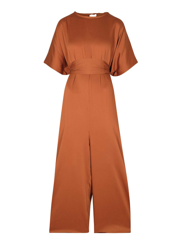 Sustainable Pino Jumpsuit - RUST - diarrablu