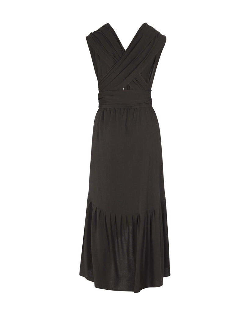 Sustainable UDA Dress - Noir - diarrablu